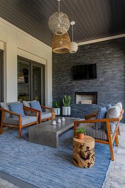 OUTDOOR LIVING AREAS - Design Debbie Pratt of ML Interiors Group - Photo Emery Davis Photography