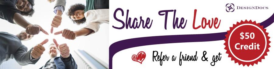 DesignDocs Referral Form - Share The Love Promo